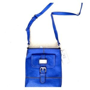 NINE WEST royal blue cross body purse